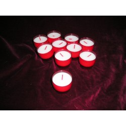 10 Veilleuses VO3 ROUGE