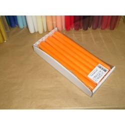 12 bougies Flambeaux 25cm N°46 ORANGE