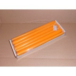 12 bougies Flambeaux 30cm -- N°46 ORANGE